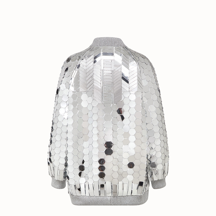 FENDI JACKET - Fendi Prints On jacket with silver-colored patches - view 2 detail
