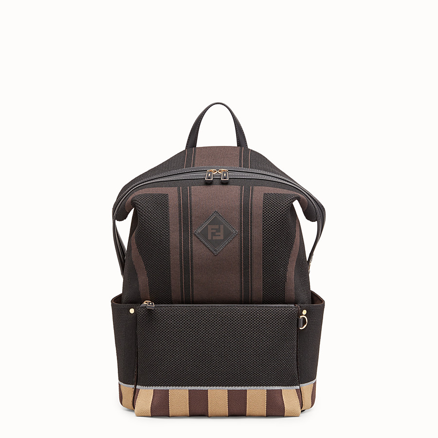 FENDI BACKPACK - Multicolor tech knit backpack - view 1 detail