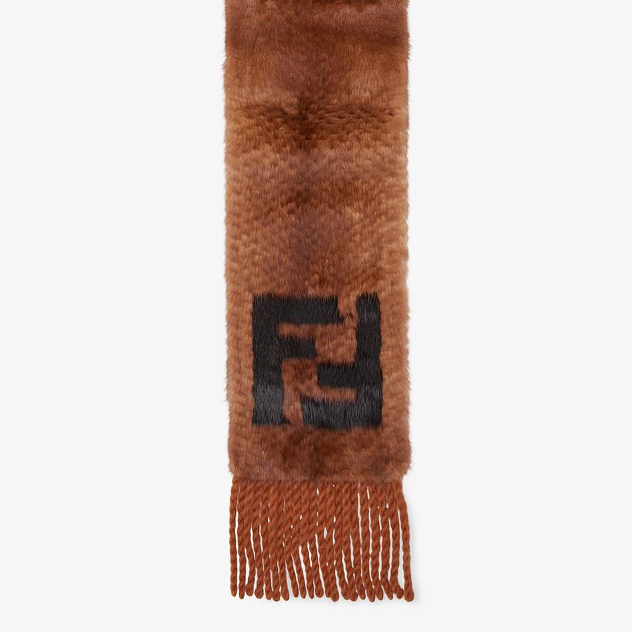 FENDI SCARF - Brown fur scarf - view 1 detail