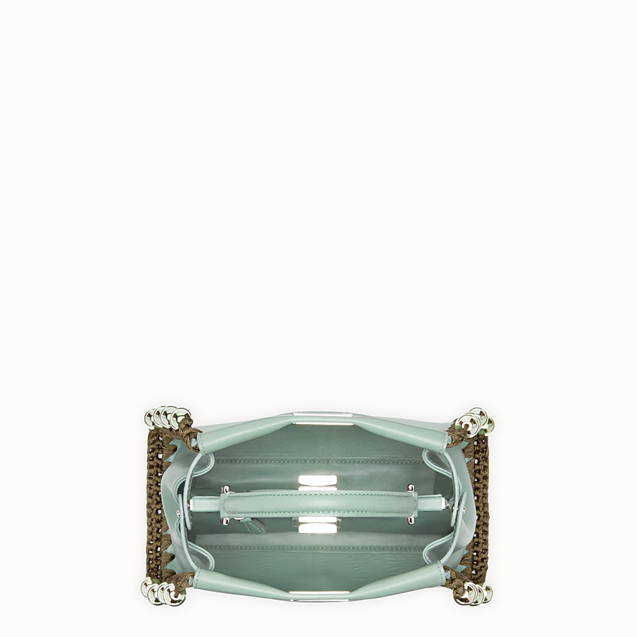 FENDI PEEKABOO MINI - Sac en cuir vert - view 4 detail