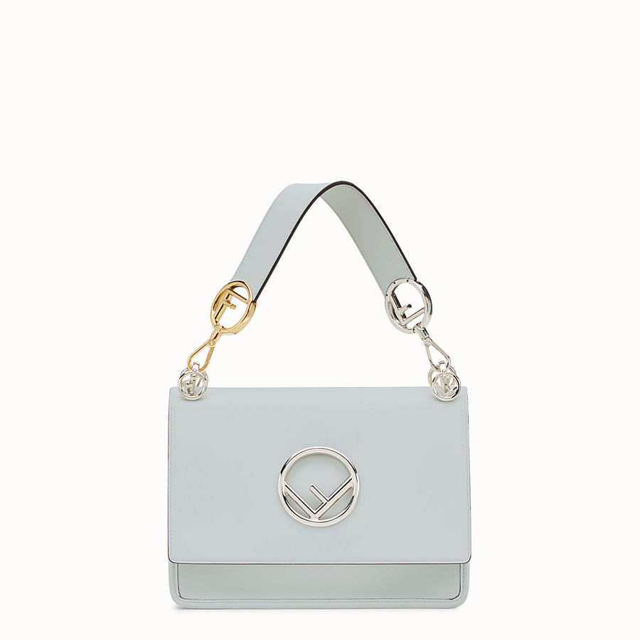 FENDI KAN I LOGO - Grey leather bag - view 1 detail
