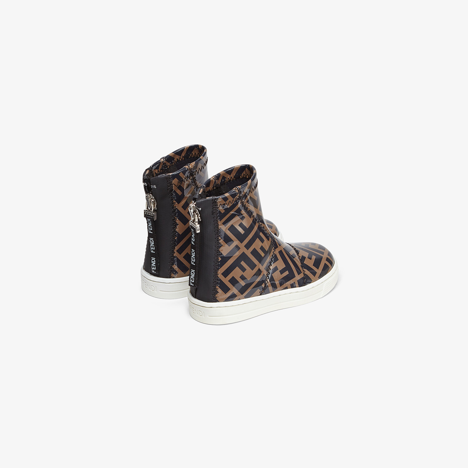 FENDI JUNIOR ANKLE BOOTS - Patent leather first-steps ankle boots - view 3 detail