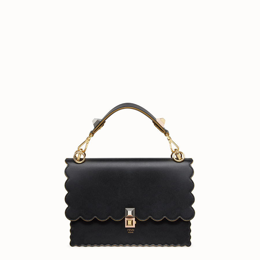 FENDI KAN I - Black and gold leather bag - view 1 detail
