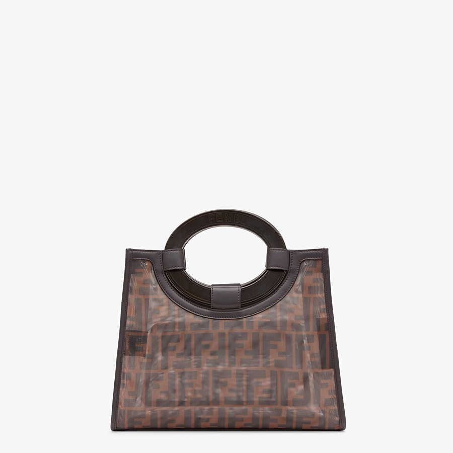 FENDI RUNAWAY SHOPPER - Multicolor mesh shopper - view 3 detail