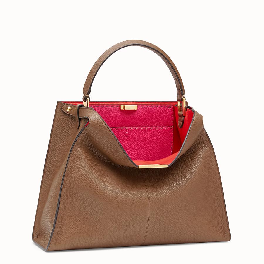 FENDI PEEKABOO X-LITE LARGE - Brown leather bag - view 3 detail