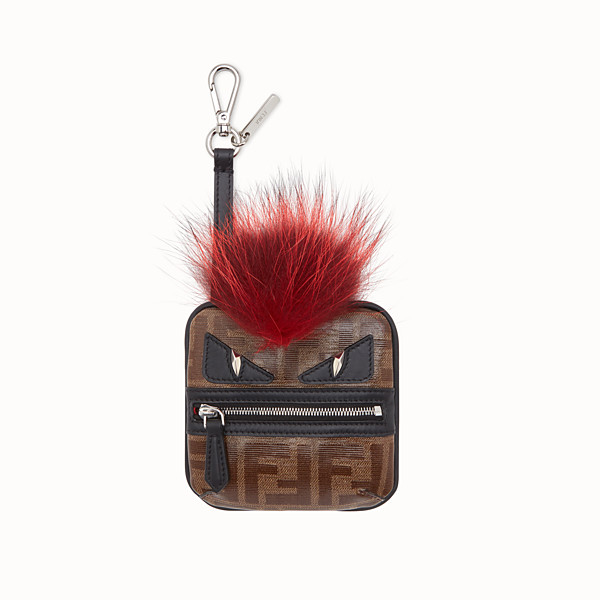 FENDI COIN PURSE CHARM - Coin purse in brown fabric - view 1 small thumbnail