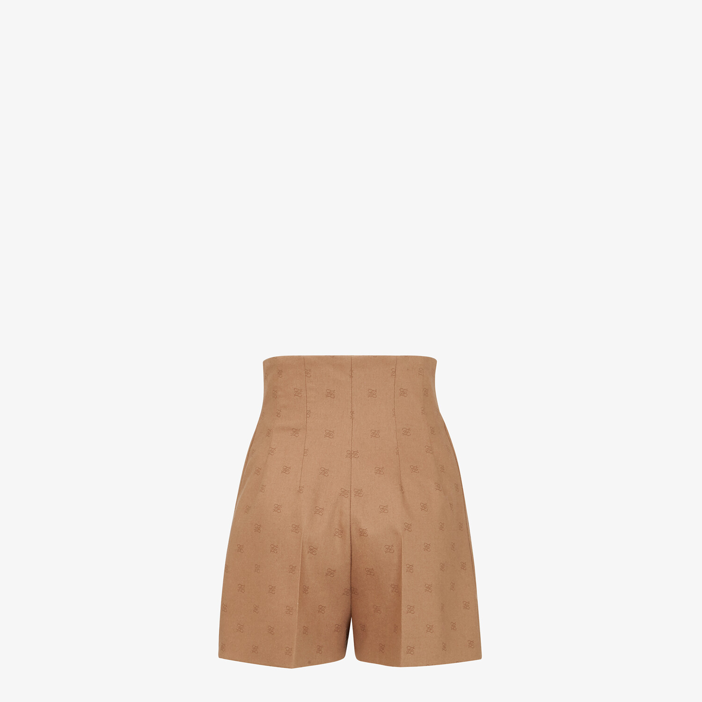 FENDI PANTS - Camel-colored wool shorts - view 2 detail