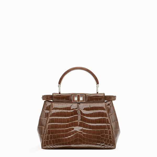 FENDI PEEKABOO MINI - Brown crocodile bag - view 1 small thumbnail