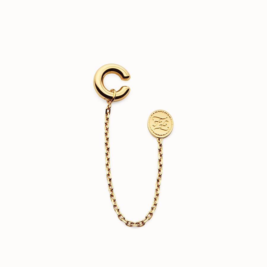 FENDI KARLIGRAPHY EARRING - Gold-colour earring - view 1 detail