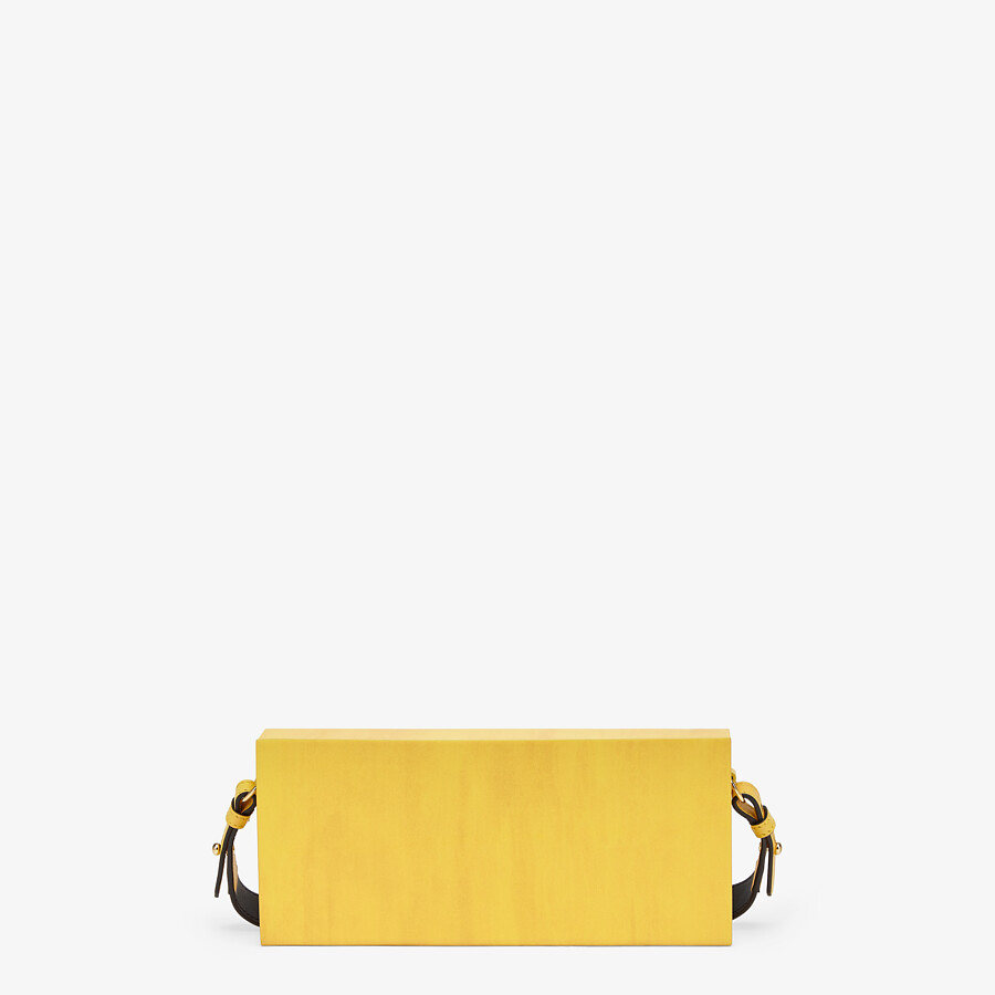 FENDI HORIZONTAL BOX - Yellow leather bag - view 3 detail