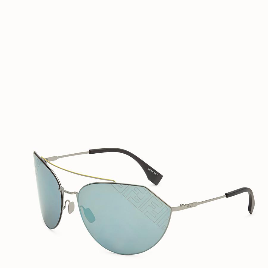 FENDI EYELINE 2.0 - Black and ruthenium sunglasses - view 2 detail