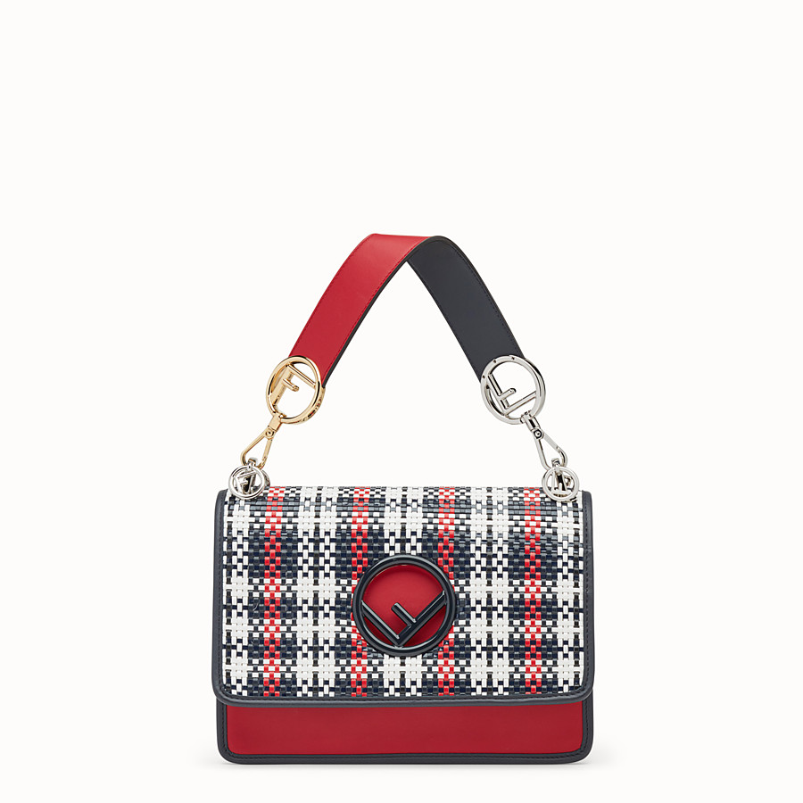 FENDI KAN I LOGO - Sac en cuir rouge - view 1 detail