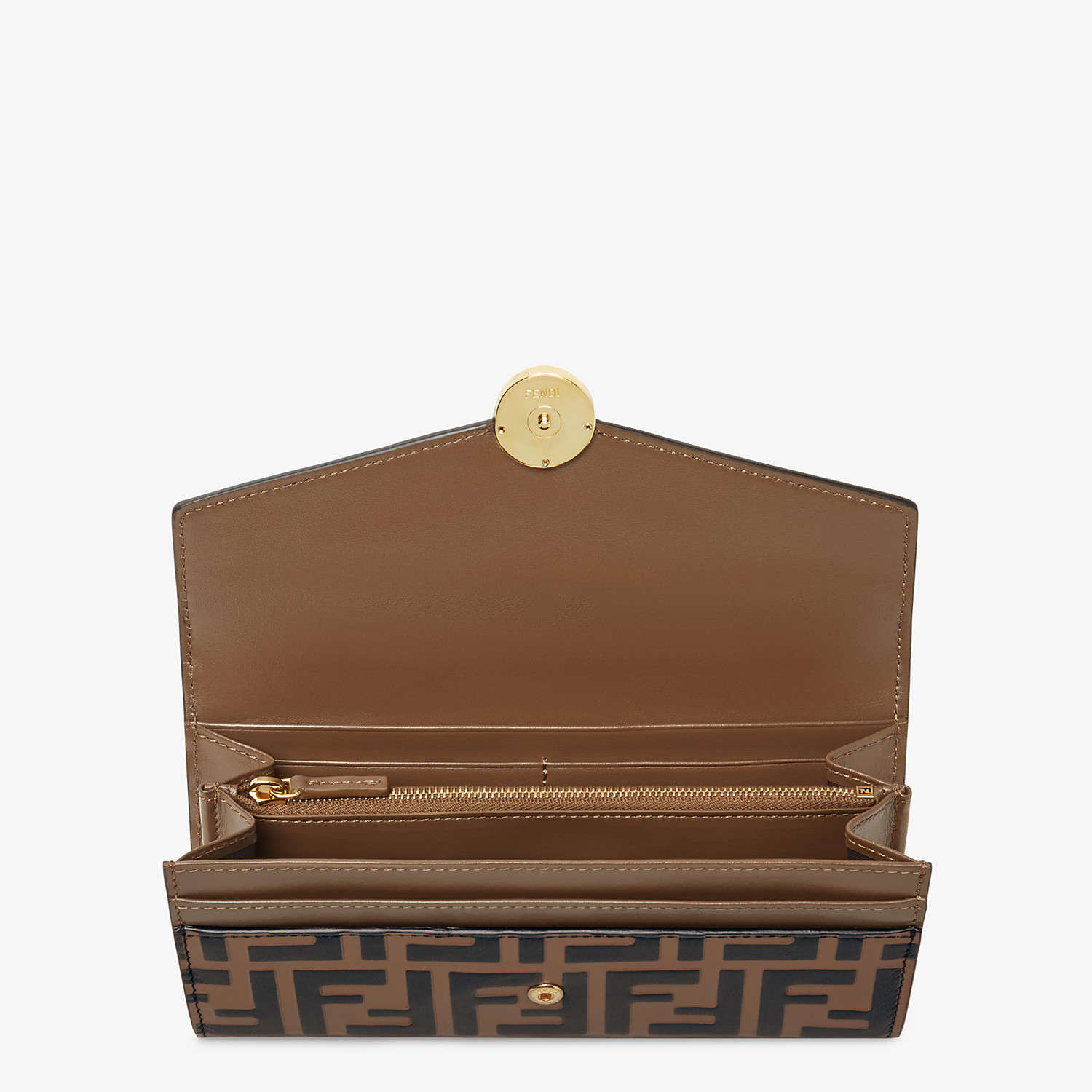 FENDI CONTINENTAL - Brown leather wallet - view 4 detail