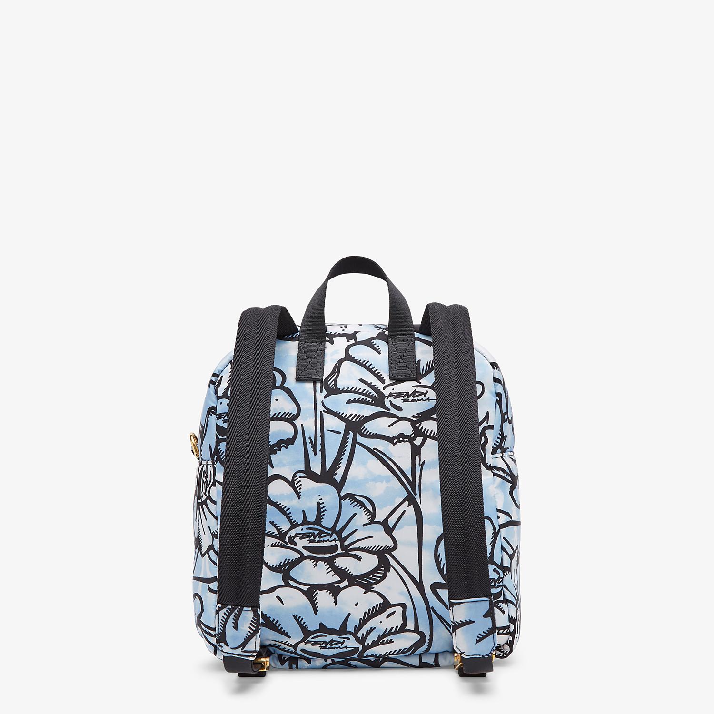 FENDI BAGUETTE BACKPACK - Floral-print nylon backpack - view 4 detail