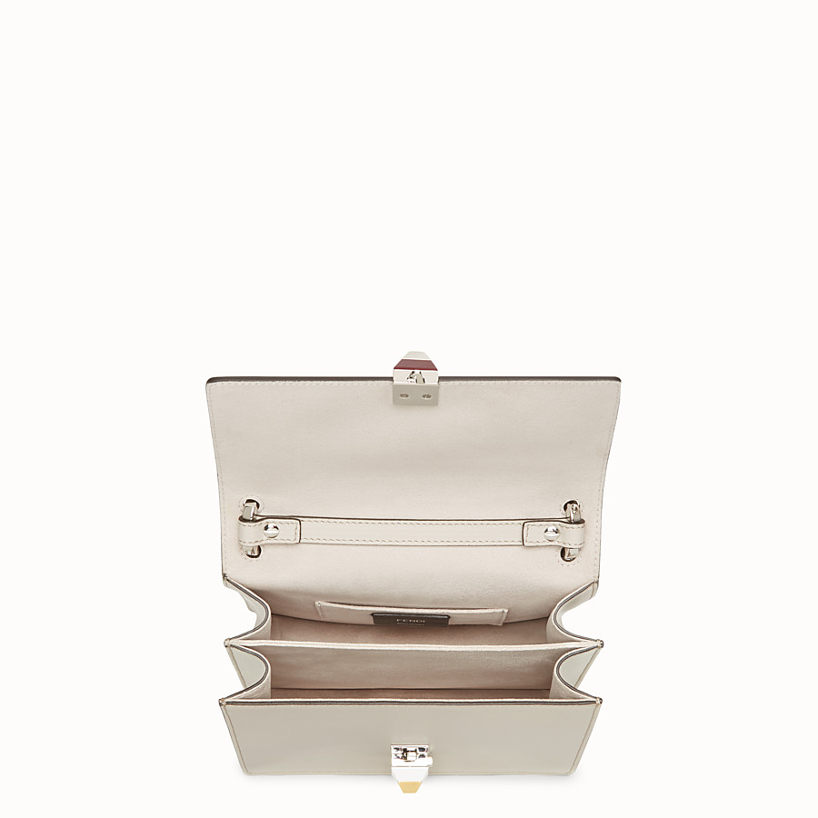 FENDI KAN I SMALL - Mini-bag in powder grey leather - view 5 detail