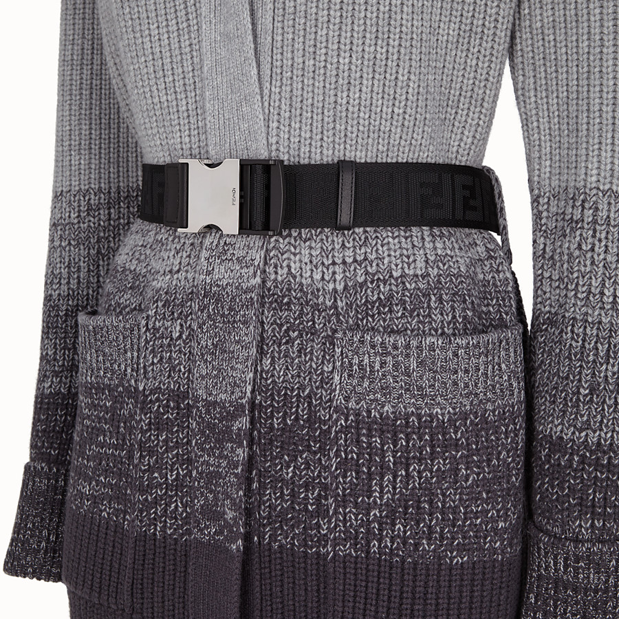 FENDI COAT - Grey wool coat - view 3 detail