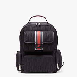 FENDI BACKPACK - Black tech fabric backpack - view 1 thumbnail