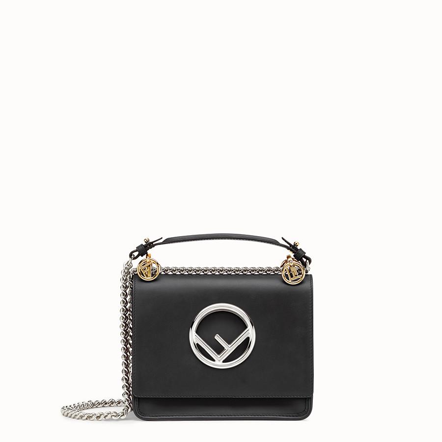 Black leather mini-bag - KAN I F SMALL  f5e4a97acf8b1