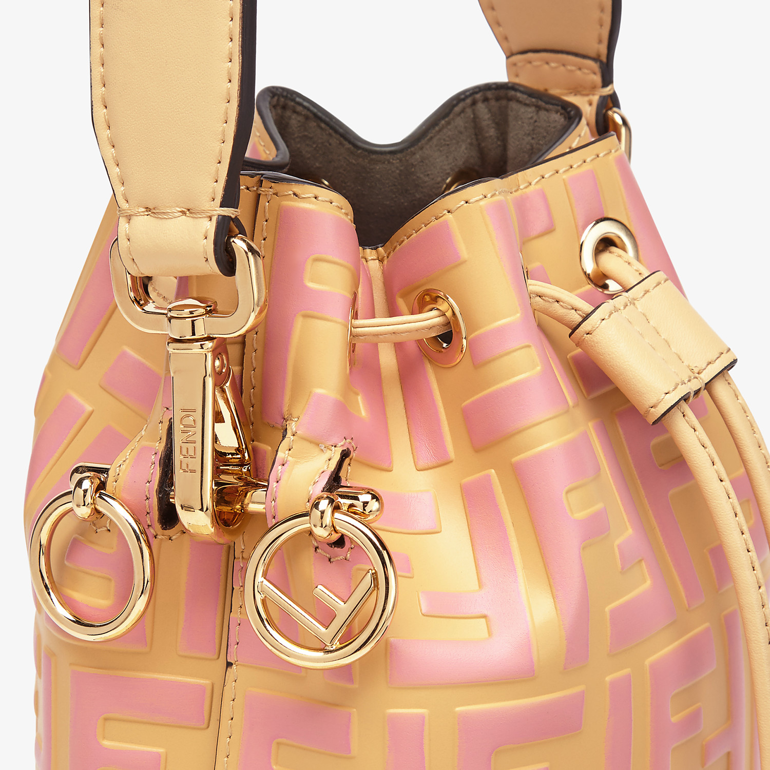 FENDI MON TRESOR - Beige leather mini bag - view 5 detail