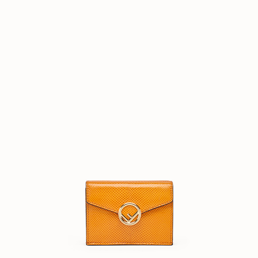 FENDI MICRO TRIFOLD - Orange karung wallet - view 1 detail