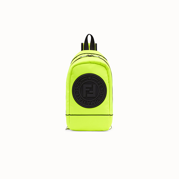 FENDI BABY BACKPACK - Yellow nylon backpack - view 1 small thumbnail