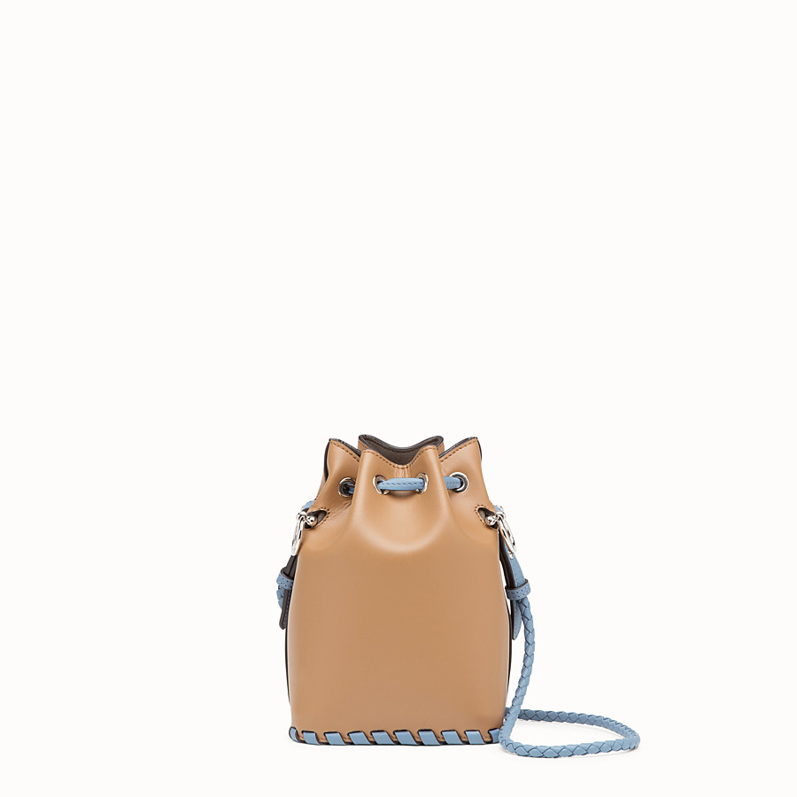 FENDI MON TRESOR - Brown leather mini-bag - view 3 detail