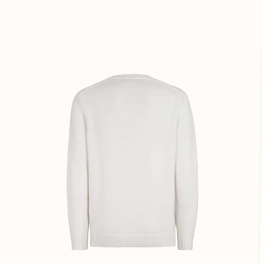 FENDI JUMPER - White wool jumper - view 2 detail