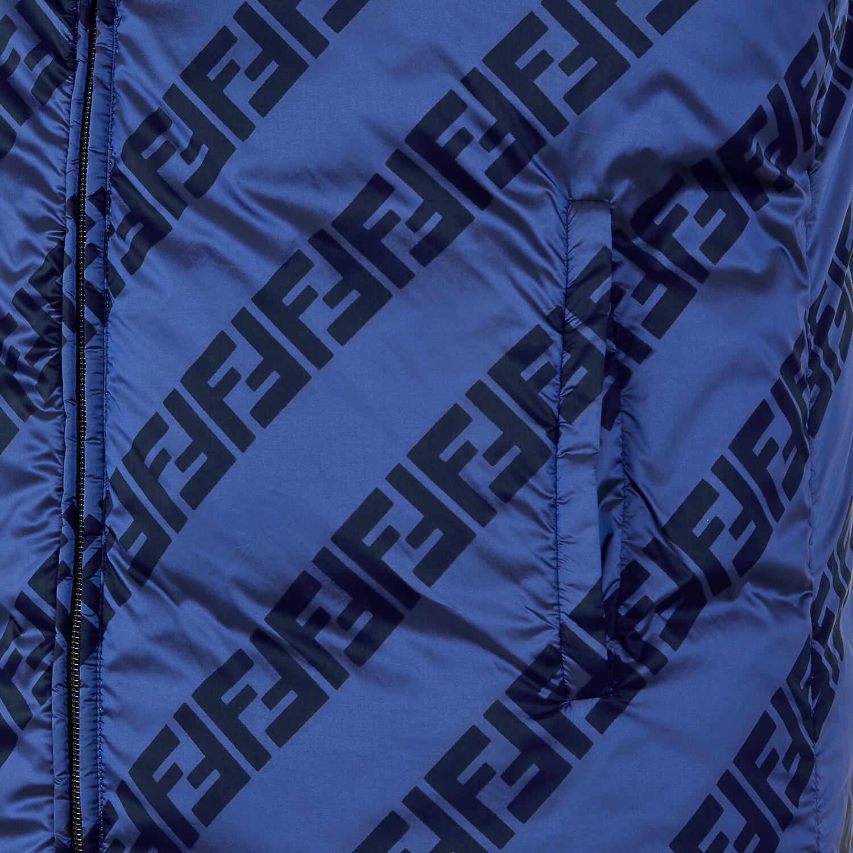 FENDI VEST - Blue nylon gilet - view 4 detail