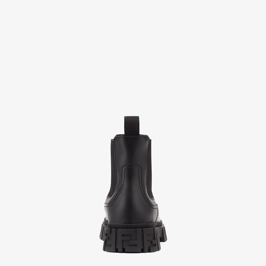 FENDI FENDI FORCE - Black leather Chelsea boots - view 3 detail