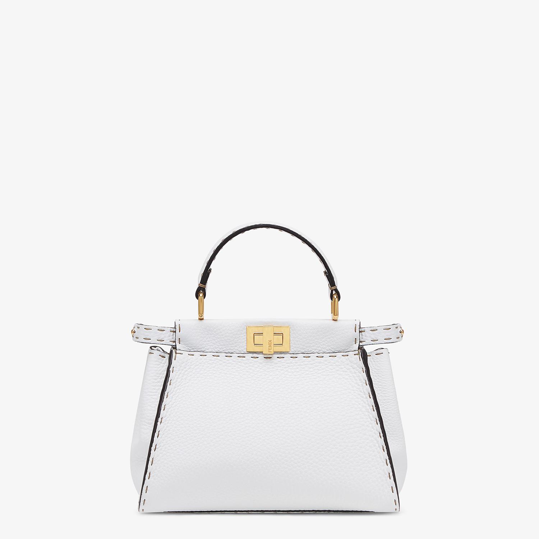 FENDI PEEKABOO ICONIC MINI - White Cuoio Romano leather bag - view 1 detail