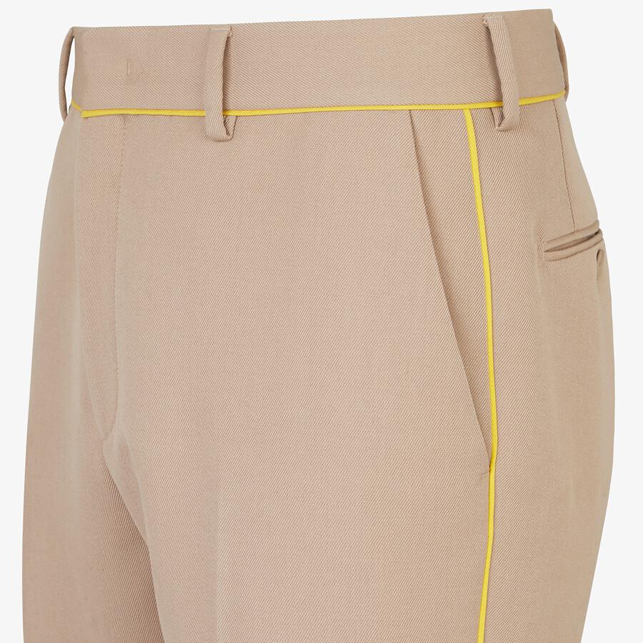 FENDI PANTS - Beige wool pants - view 3 detail