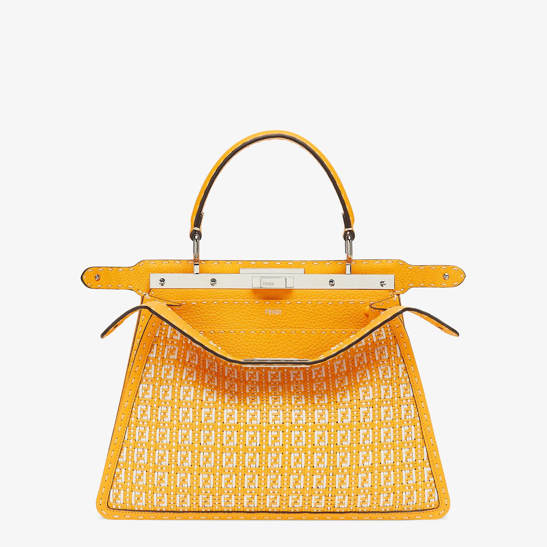 FENDI PEEKABOO ISEEU MEDIUM - Orange and white braided leather bag - view 2 detail