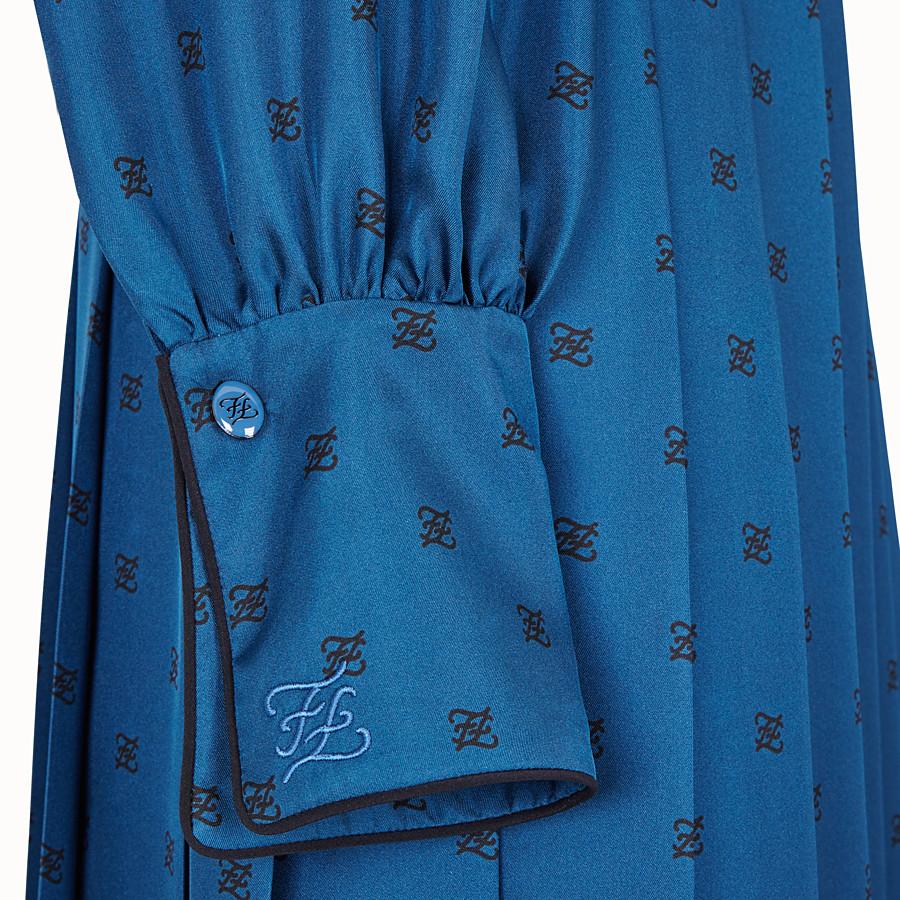 FENDI ABITO - Abito in seta blu - vista 3 dettaglio