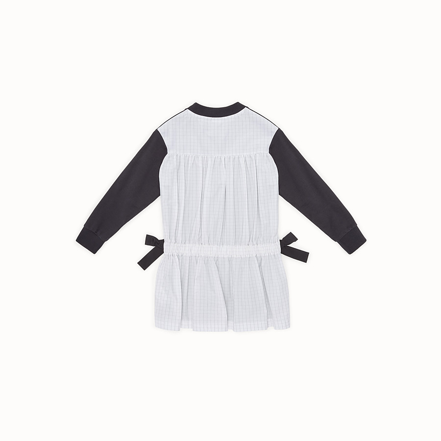 FENDI DRESS - Sweatshirt fleece and poplin dress with print - view 2 detail