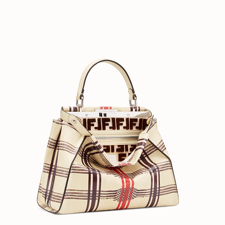 FENDI PEEKABOO REGULAR - White karung bag - view 2 detail