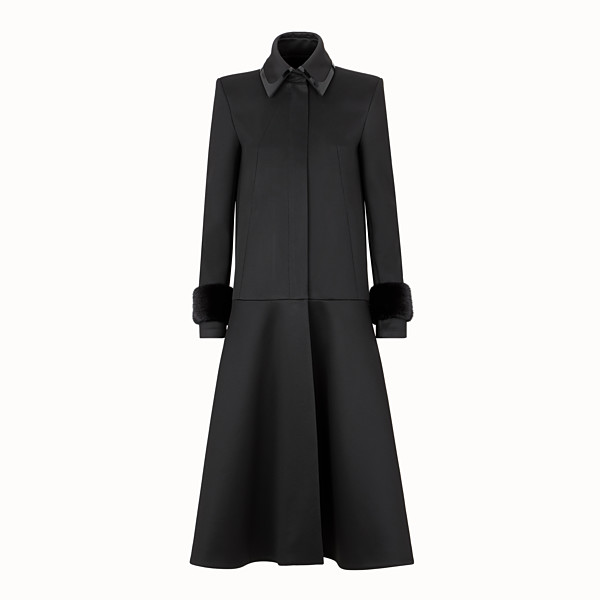 FENDI COAT - Black jersey coat - view 1 small thumbnail