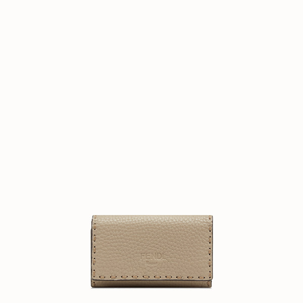 FENDI KEY RING - Beige leather key ring - view 1 small thumbnail
