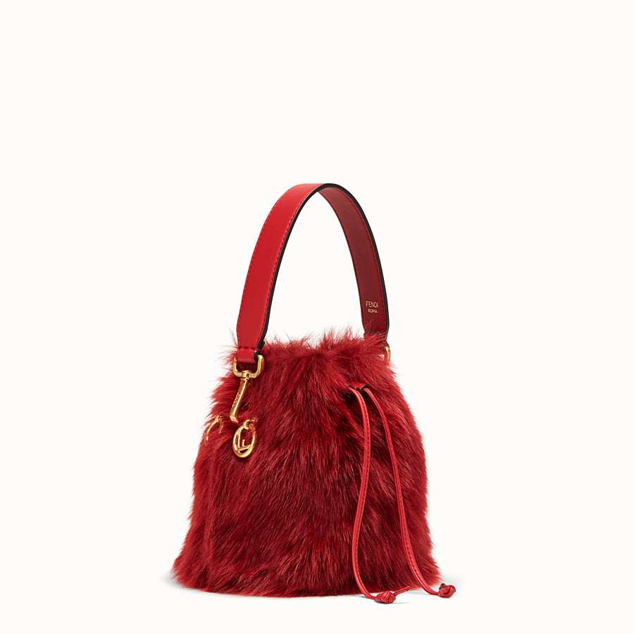 FENDI MON TRESOR - Mini bag in red sheepskin - view 2 detail