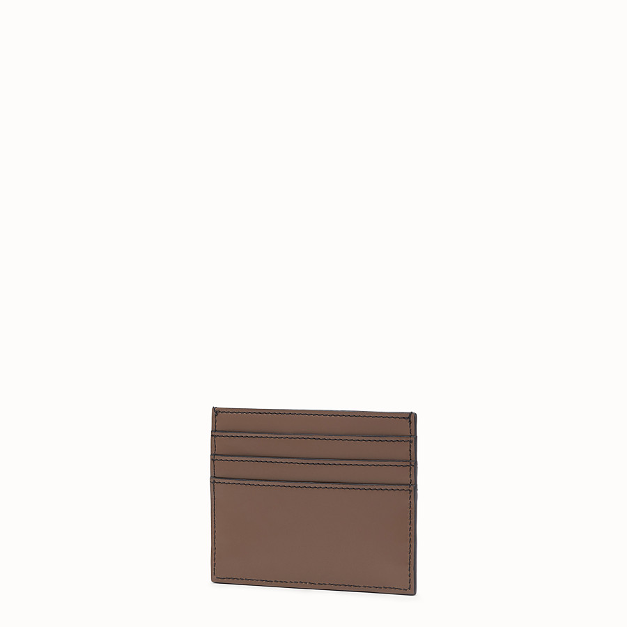 FENDI PORTE-CARTES - Porte-cartes en cuir marron - view 2 detail