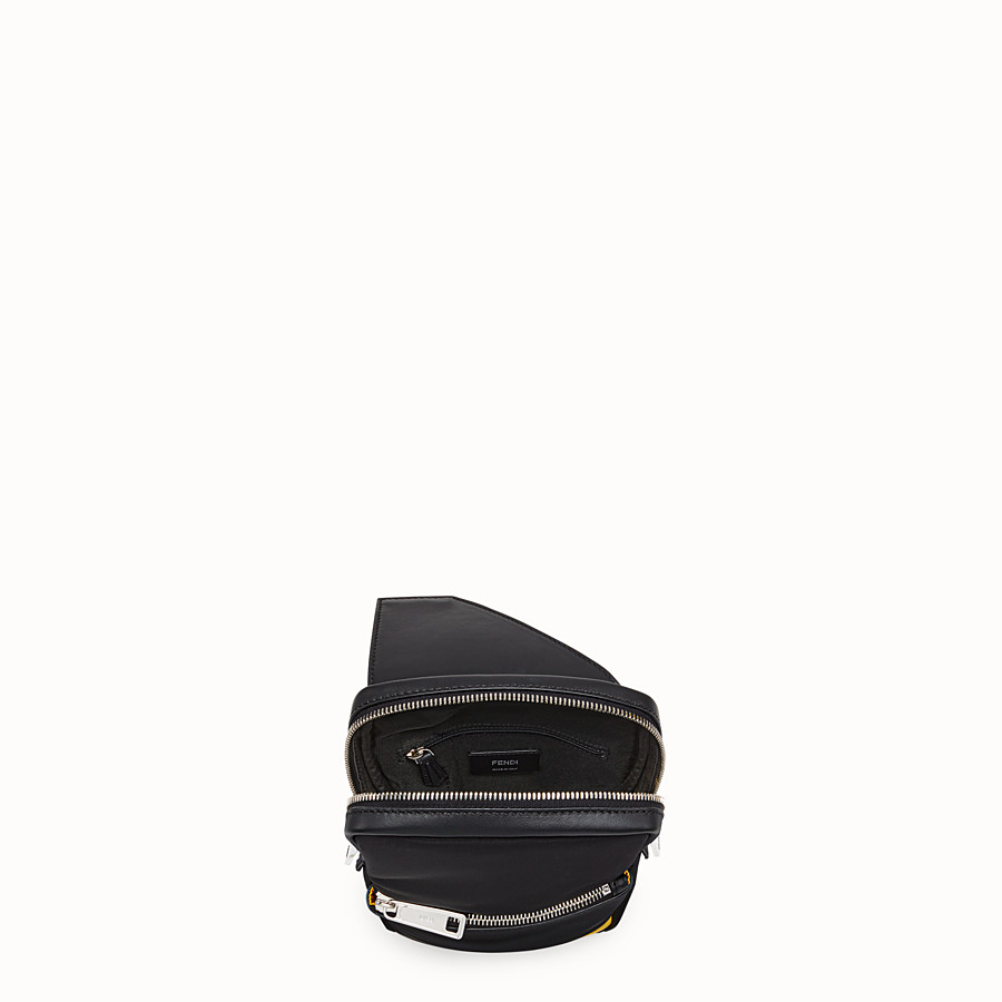 FENDI BELT BAG - Black calf leather, one-shoulder backpack - view 4 detail