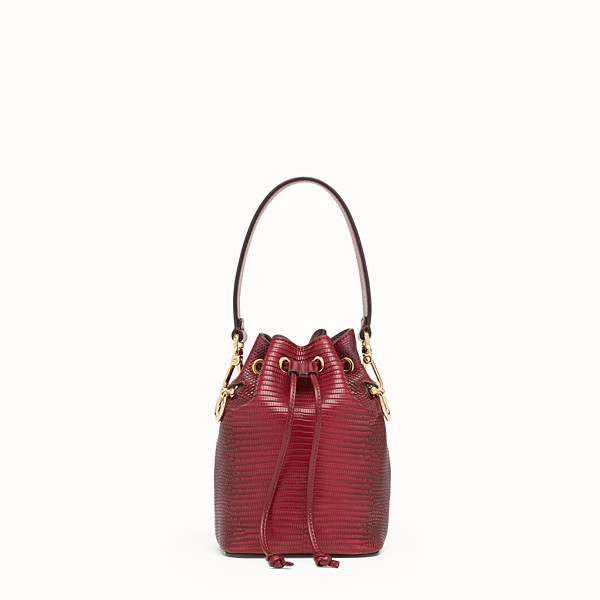 FENDI MON TRESOR - Red lizard skin mini-bag - view 1 small thumbnail