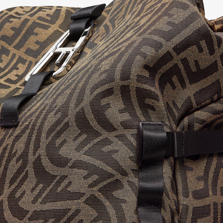 FENDI FERRINO BACKPACK - Backpack in brown FF Vertigo fabric - view 4 detail