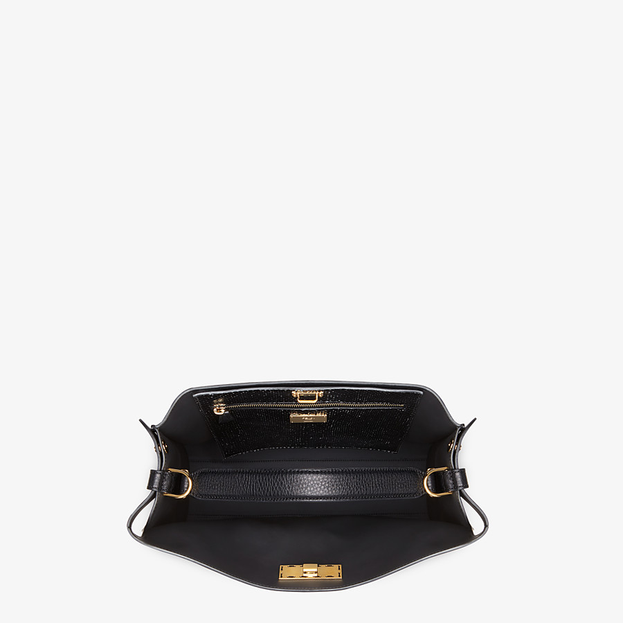 FENDI PEEKABOO X-LITE FIT - Black Romano leather bag - view 5 detail