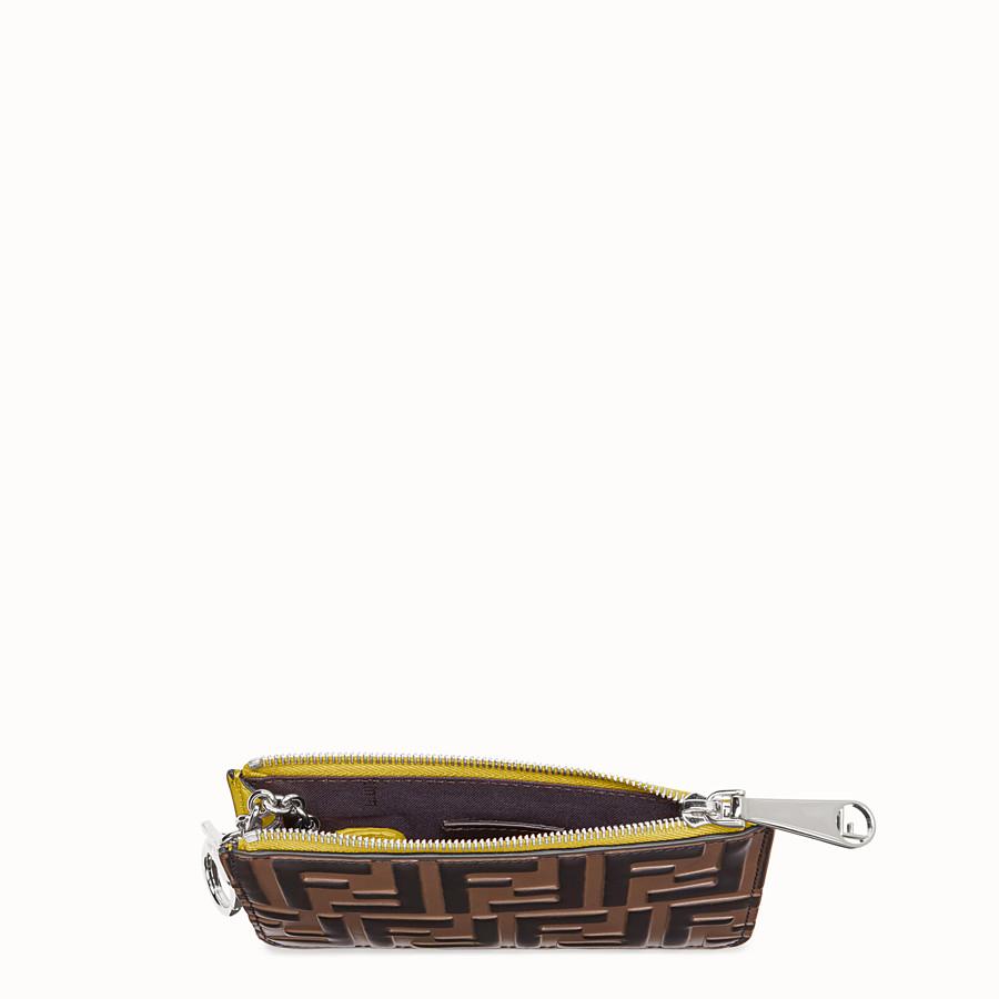FENDI KEY CASE POUCH - Yellow leather pouch - view 4 detail
