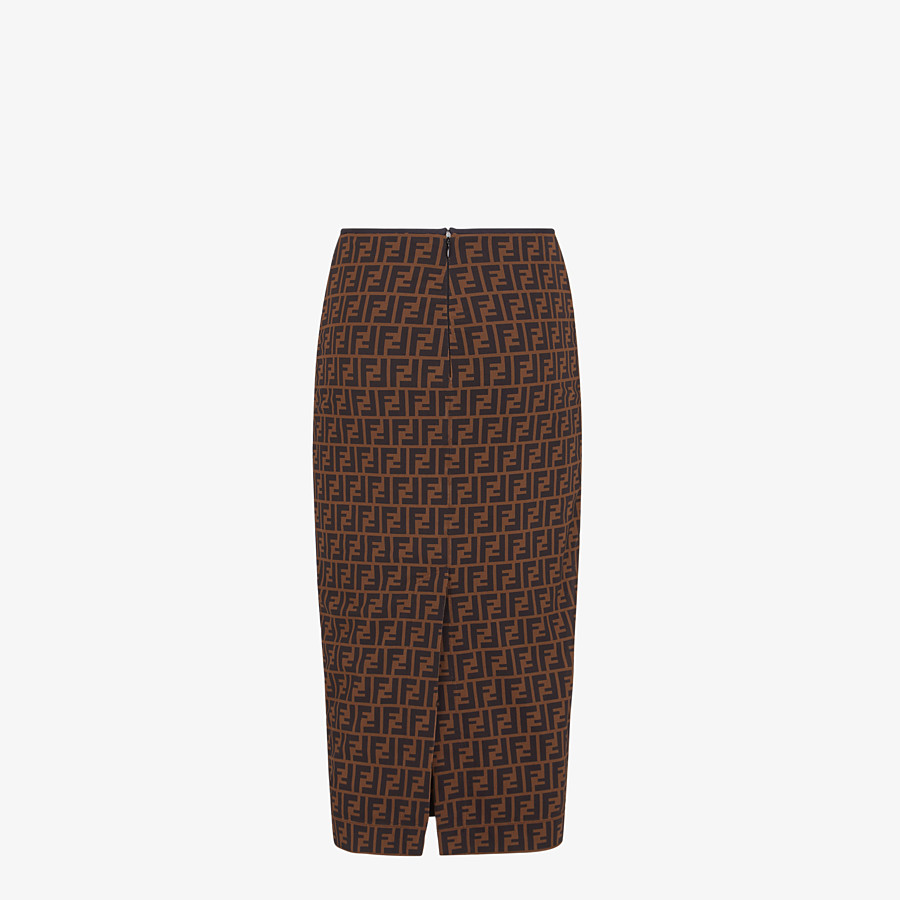 FENDI SKIRT - Brown micromesh skirt - view 2 detail