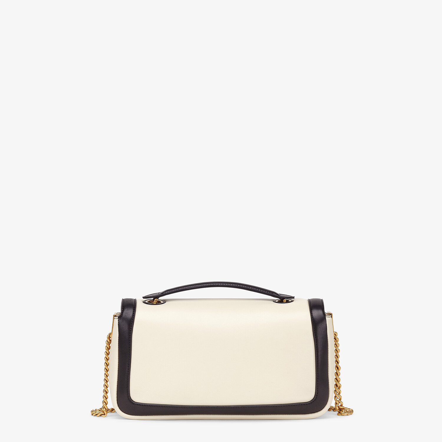 FENDI BAGUETTE CHAIN - Black and white nappa leather bag - view 4 detail