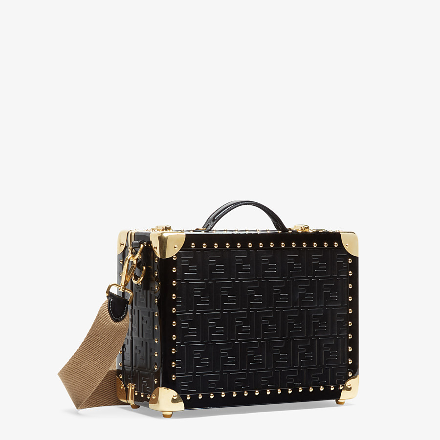 FENDI SMALL TRAVEL BAG - Black leather suitcase - view 2 detail