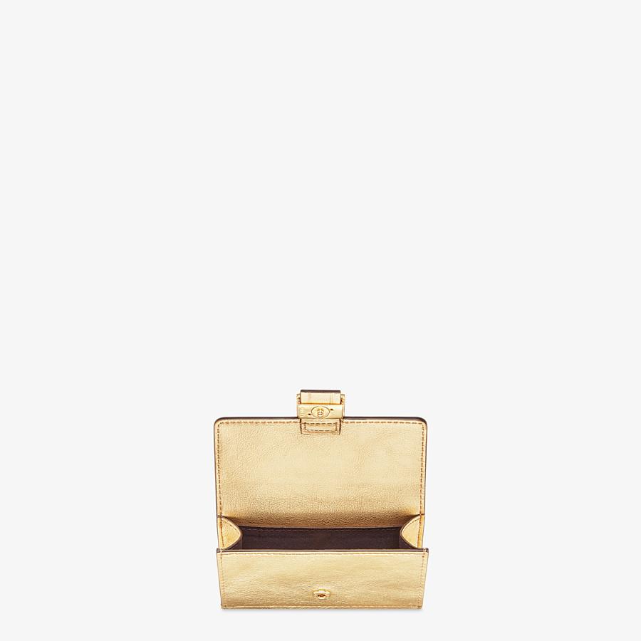 FENDI CARD HOLDER - Gold leather card holder - view 3 detail