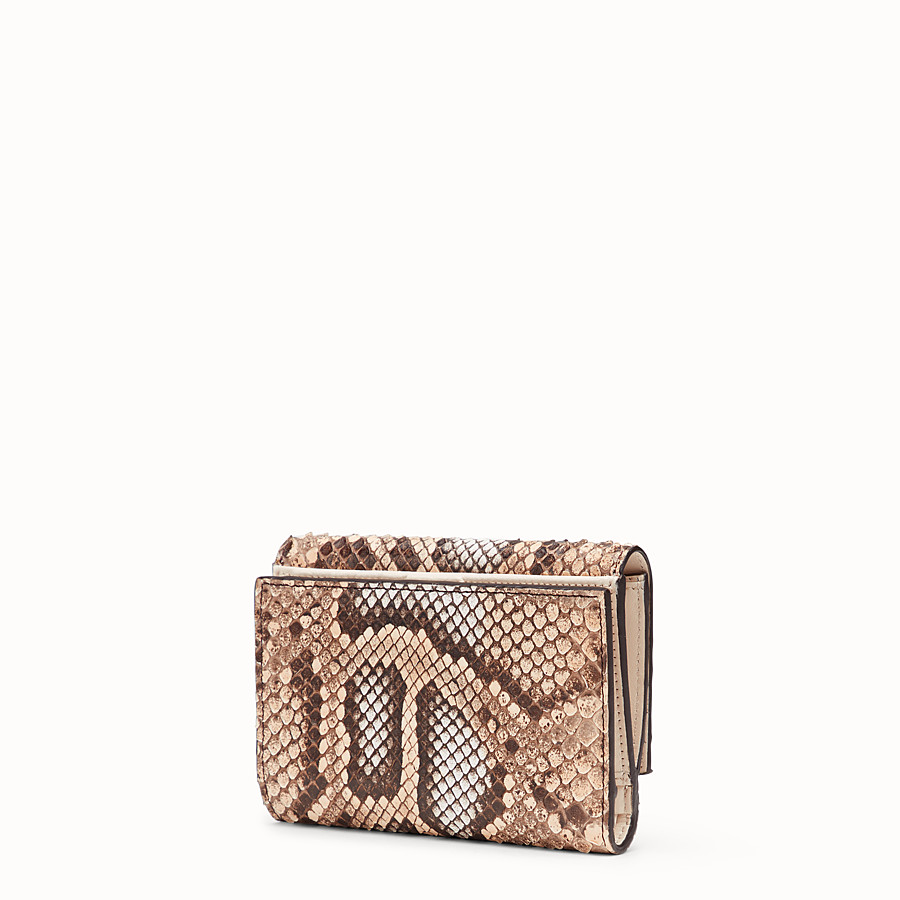 FENDI CONTINENTAL MEDIUM - Pink python wallet - view 2 detail