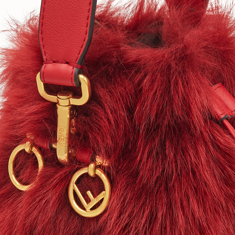 FENDI MON TRESOR - Mini bag in red sheepskin - view 5 detail